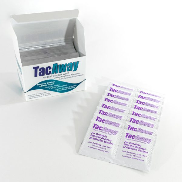 Torbot Tac Away adhesive remover wipes