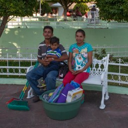 The Pineda Family after the key ceremony, José, Maria, Yeny, Nery & José Jr will share the new home