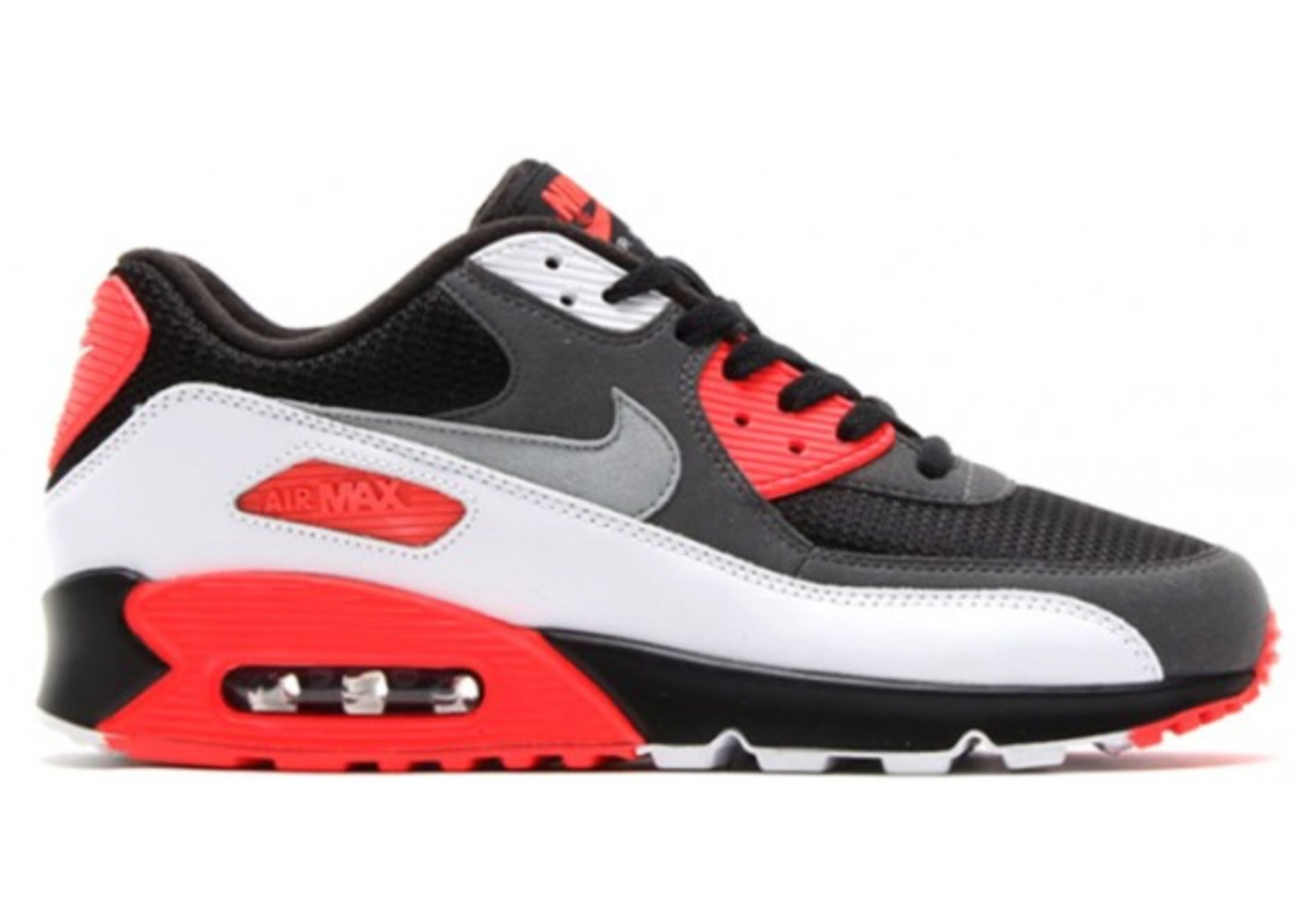 finest selection 19d5f 0b22a Nike Air Max 90 Essential Black / Red New Men's Trainers - True Looks
