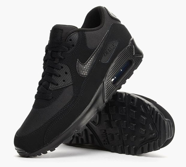 Nike Air Max 90 Essential Black Red New Men's Trainers True Looks
