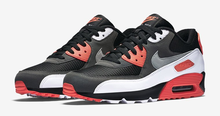 Nike Mens Air Max 90 Essential Leather Synthetic Black White Cool Grey Trainers 11 US