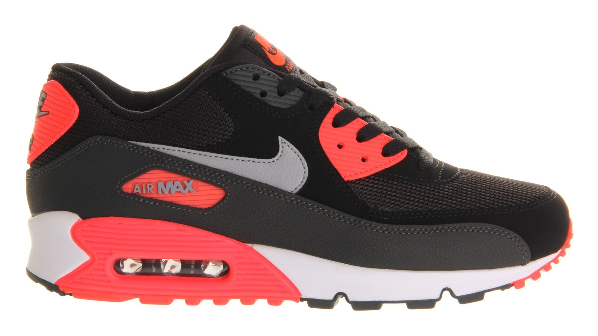 Nike Air Max 90 Essential 537384 006 BlackWolf Grey Atomic