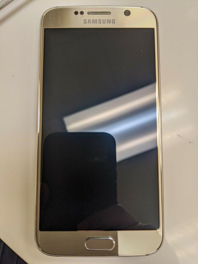 Samsung Galaxy S6 SM-G920T – 32 GB – Gold Platinum (GSM Unlocked) Smartphone
