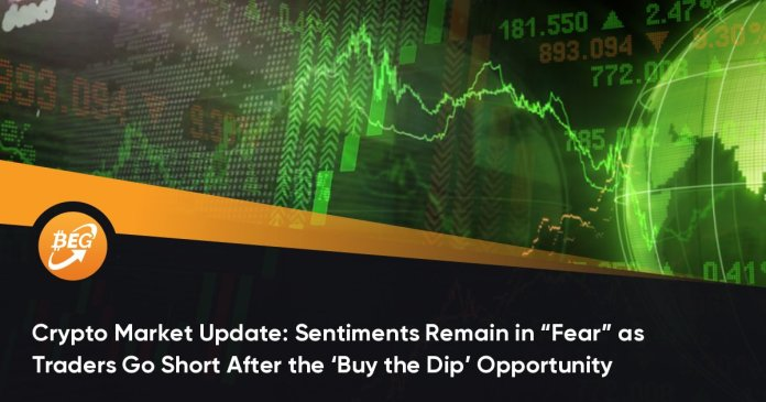 """Crypto Market Update: Sentiments Remain in """"Fear"""" as Traders Go Short After the 'Buy the Dip' Opportunity"""