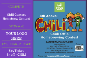 Chili Cook Off and Homebrew Contest @ Our Lady of Grace | Hoboken | New Jersey | United States