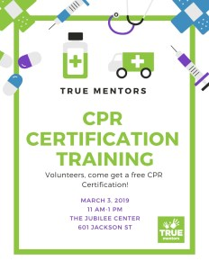 CPR Volunteer Certification @ The Jubilee Center