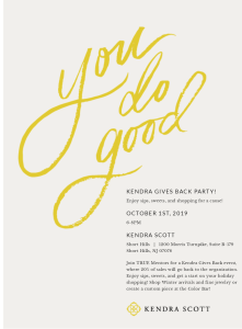 "Kendra Scott ""You Do Good"" Fundraiser @ Kendra Scott"