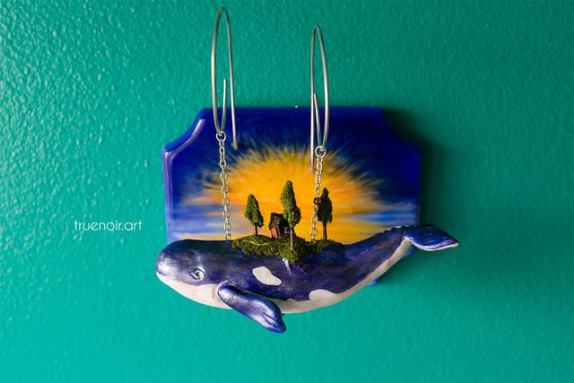 Blue sky whale