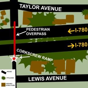 Labelled Map of Pedestrian Overpass