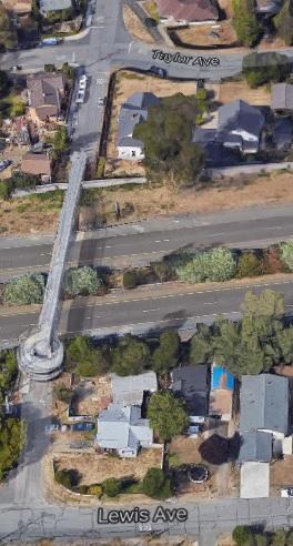 Pedestrian Overpass (Google Maps)