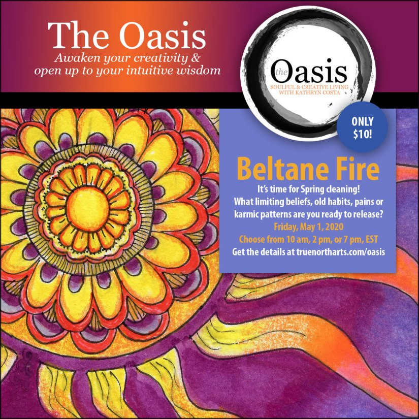 Awaken your creativity at The Oasis. This week's theme is fire.