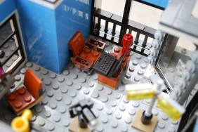 The photograher's desk in my LEGO studio.