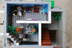 The floor plan for the second story of my LEGO corner deli.