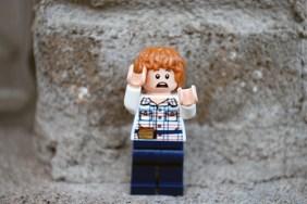 LEGO Jurassic World Gray Minifigure Alternate Face