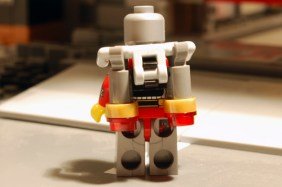 LEGO Deadshot, rear view with jet pack.