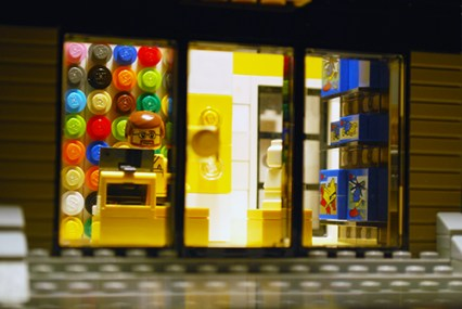 MOC LEGO Store shop front.