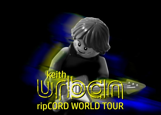 Keith Urban - Ripcord Tour Poster LEGO-fied