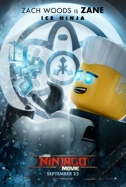 Official Ninjago Movie Zane character poster