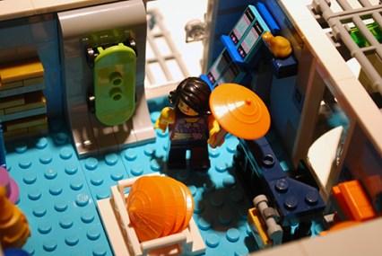 LEGO Ninjago City apparel shop.