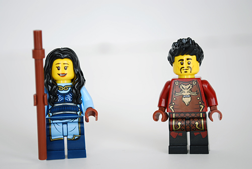 LEGO Dragon's Forge (70627) Ray & Maya - front view.
