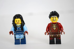 LEGO Dragon's Forge (70627) Ray & Maya - alternate faces.