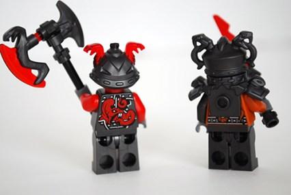 LEGO Dragon's Forge (70627) Vermillion warriors - rear view.