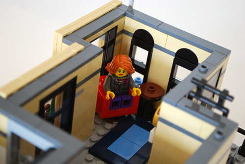 LEGO recording studio sitting area.