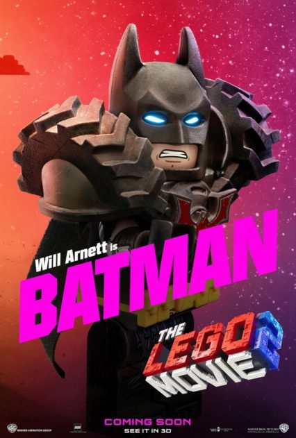 Official LEGO® Movie 2 Batman poster.