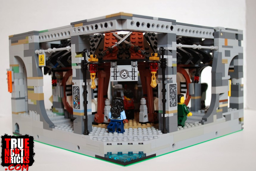 The traditional base layer of my custom Ninjago City Expansion, featuring Dragon's Forge.