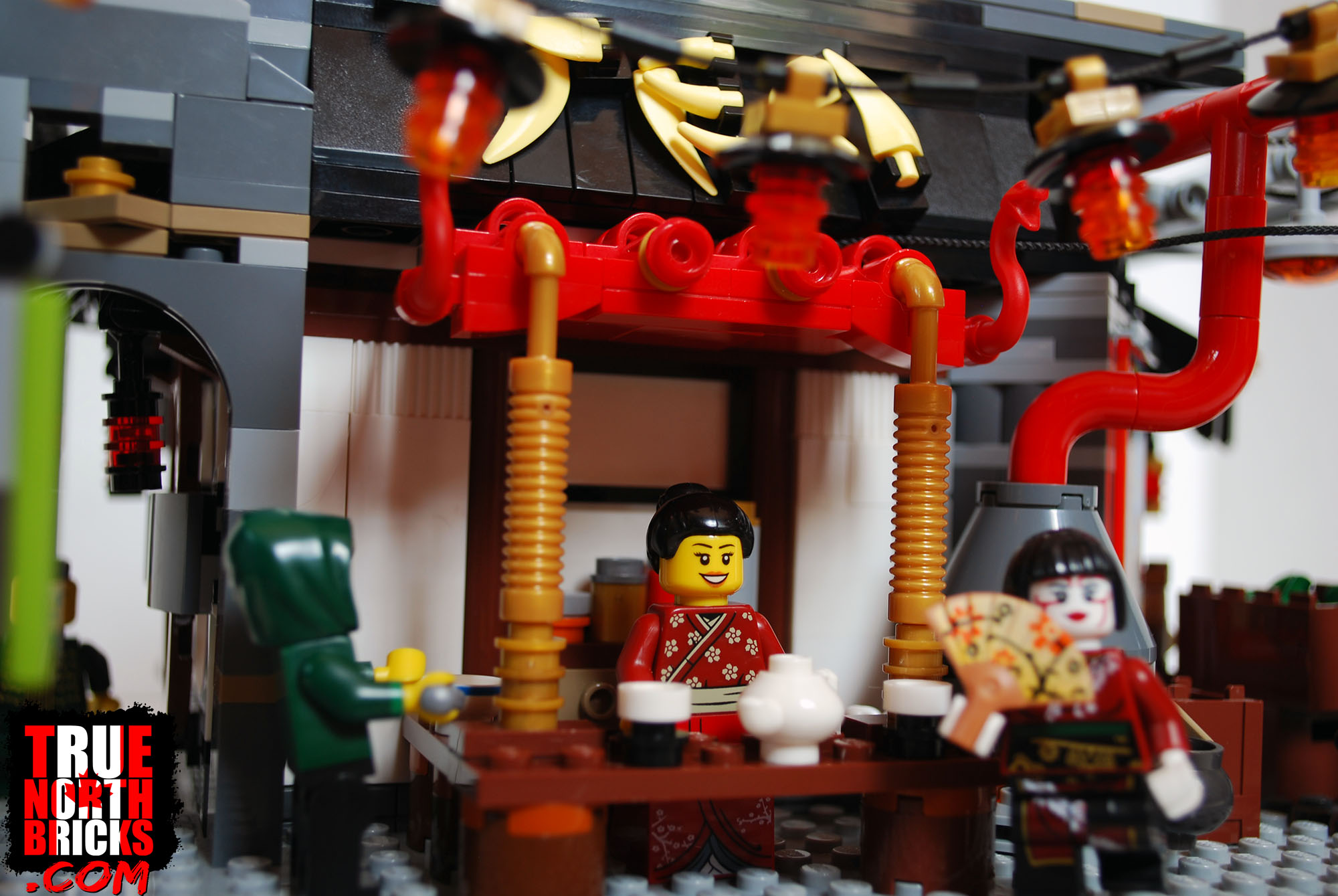 The tea shop that I designed for Ninjago City.
