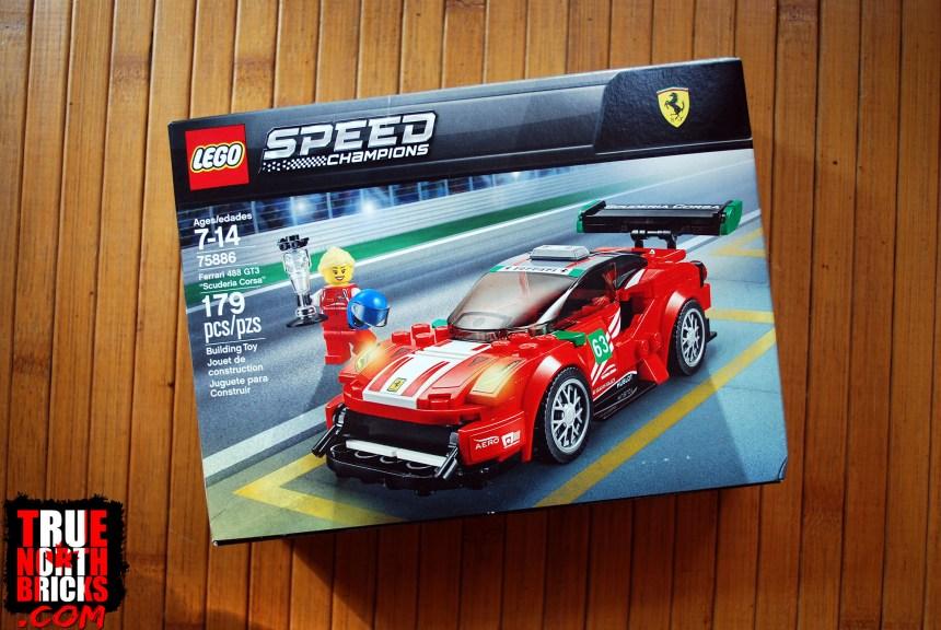 "LEGO Speed Champions Ferrari 488 GT3 ""Scuderia Corsa"" 75886 Building Kit-179 Pcs"