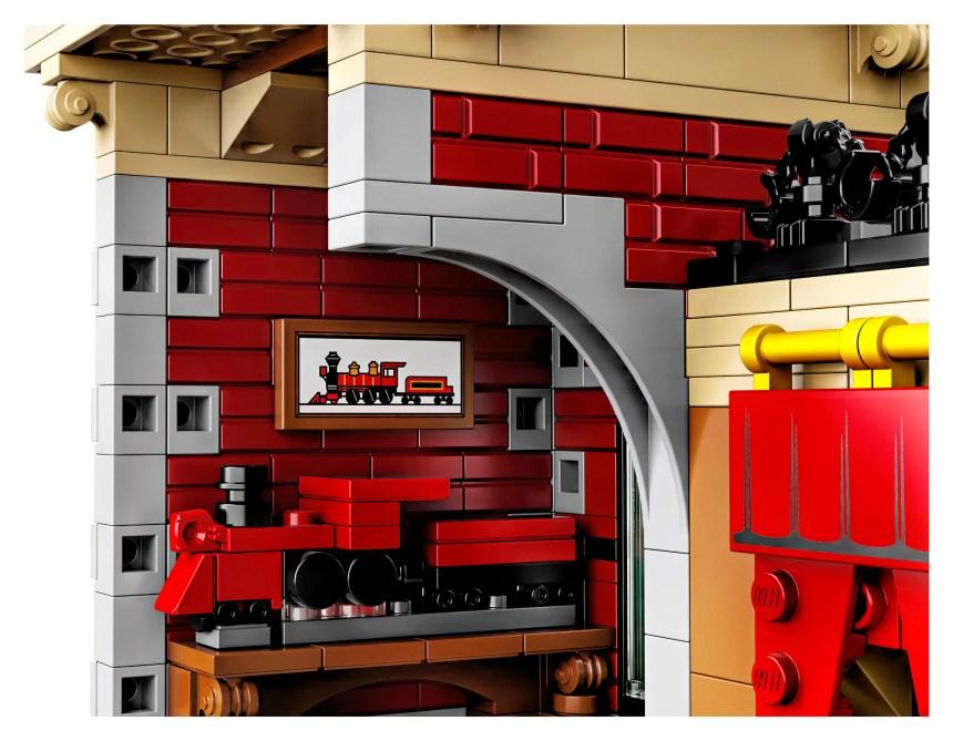 Disney Train Station interior.