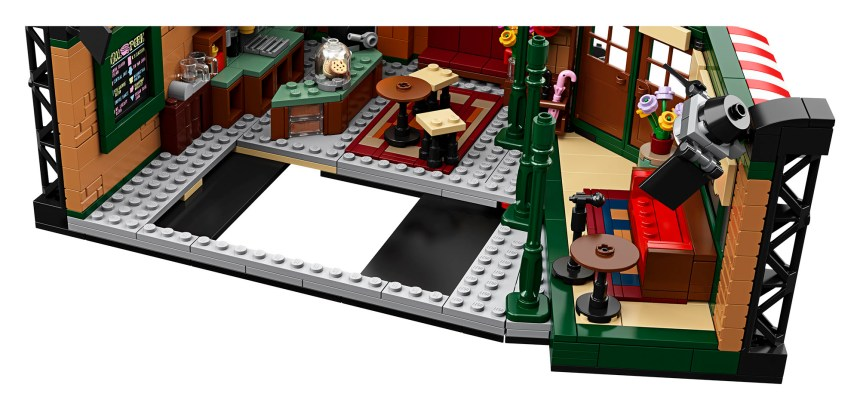 Removable couches in Central Perk set.