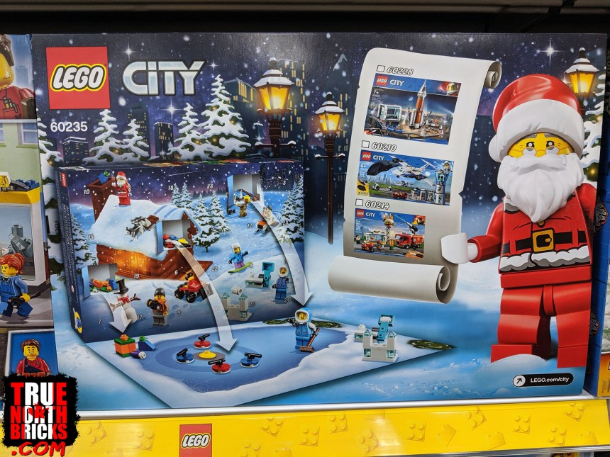 City Advent calendar box back view
