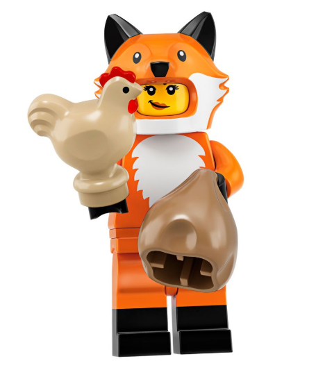 Fox Costume Minifigure.