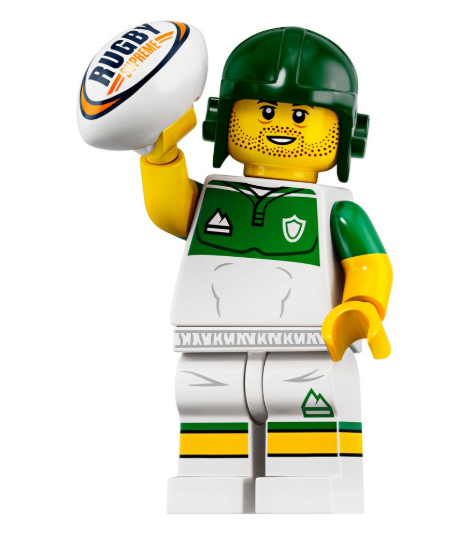 Minifigure Series 19 Rugby Player
