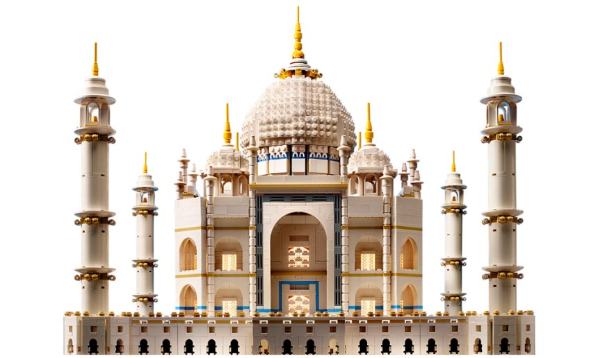 The third largest LEGO set, the Taj Mahal.