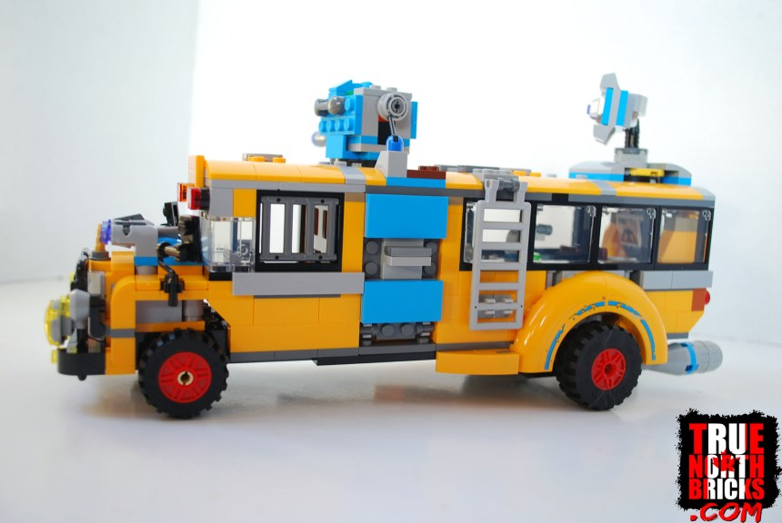 Side view of the bus.