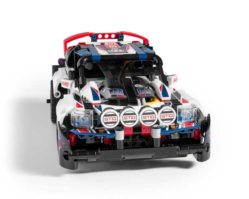 Front view of Technic Top Gear Rally Car