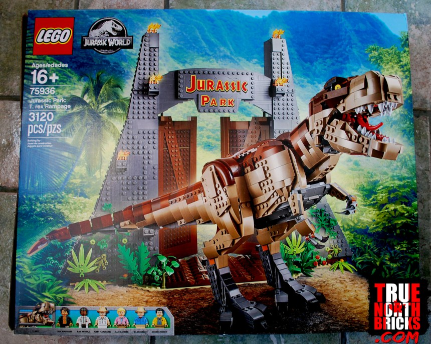 T. rex Rampage (75936) box art.