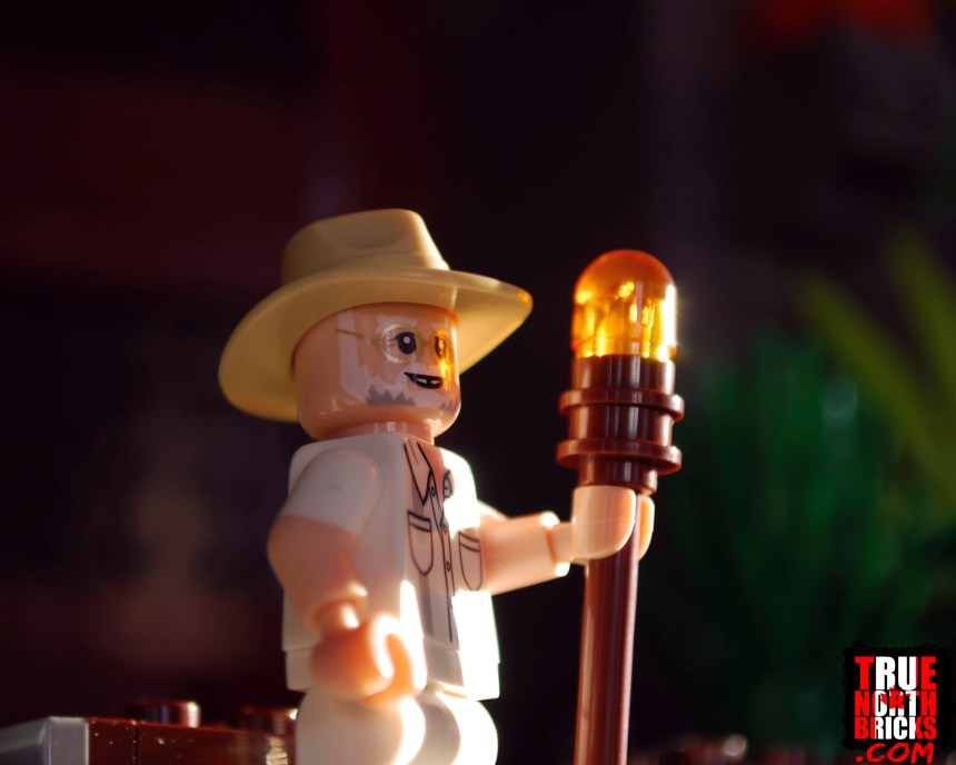 John Hammond Minifigure from T. rex Rampage (75936).