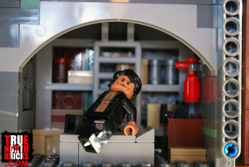 Ian Malcolm Minifigure from T. rex Rampage (75936).