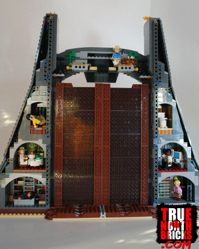 Rear view of the Jurassic Park gate.