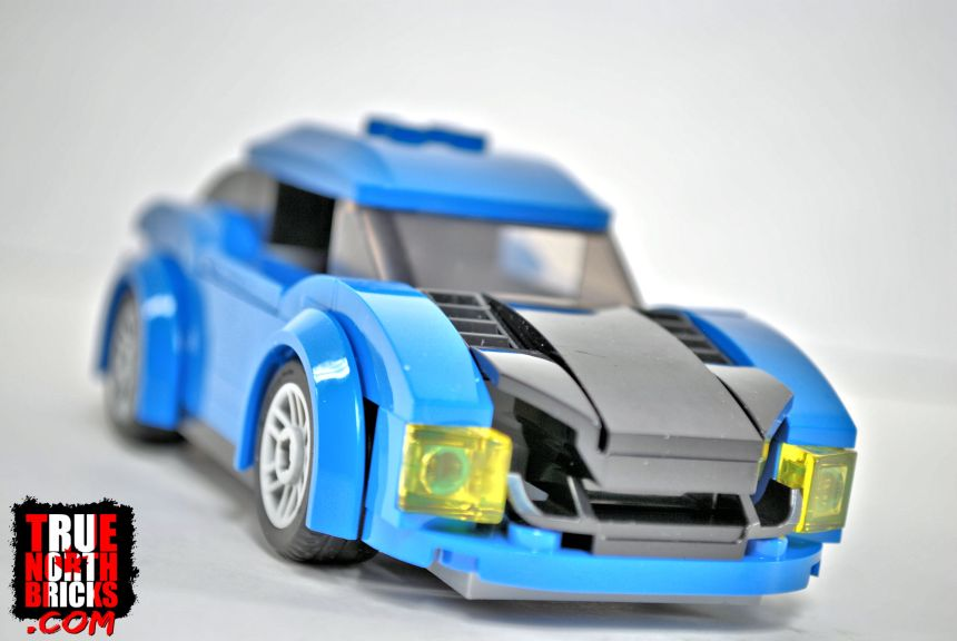 Capital City (60200) blue sports car.