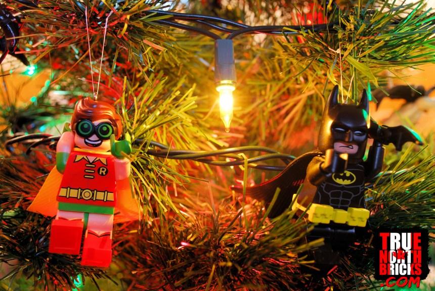 Robin and Batman ornaments on my tree.