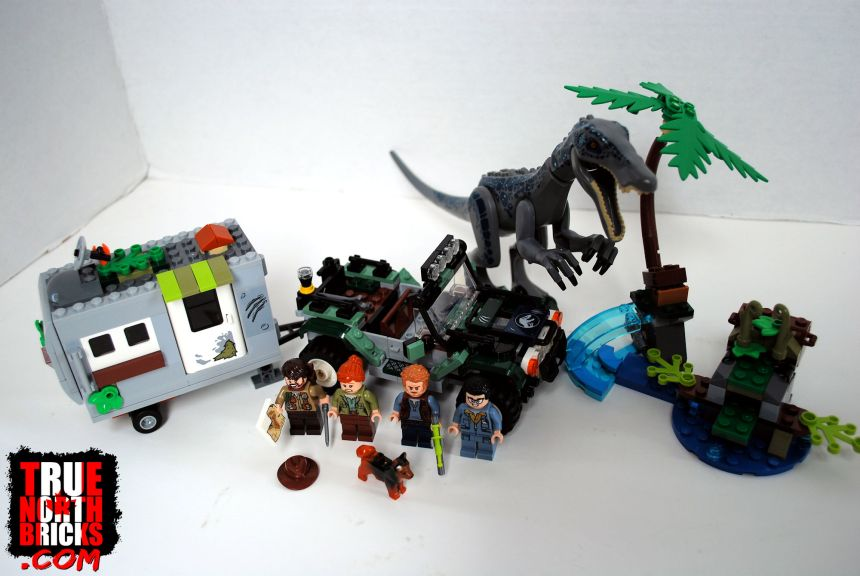 Baryonyx Face-Off (75935) box contents.