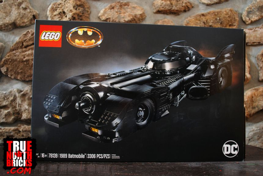 1989 Batmobile (76139) front box art.