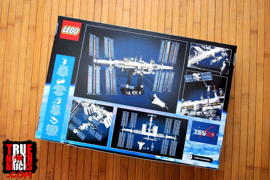 International Space Station rear box art.