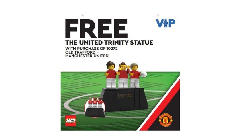 Upcoming promotions: United Trinity Statue gift-with-purchase.