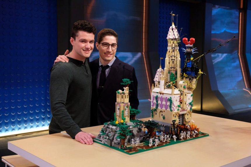Aaron and Christian's Movie Genre (LEGO® Masters) mash-up was romance-thriller (©2020 FOX MEDIA LLC. CR: Ray Mickshaw/FOX).